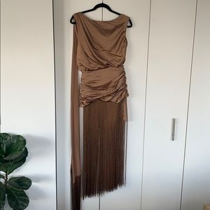 ASOS Grecian Fringe Dress
